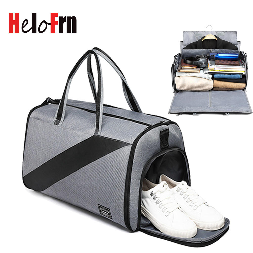 HeloFrn Business Travel Men Large Capacity Handbag Luggage Travel Duffle Bags Suit Male Travel Bags Formal Dress Shoes PocketHeloFrn Business Travel Men Large Capacity Handbag Luggage Travel Duffle Bags Suit Male Travel Bags Formal Dress Shoes Pocket