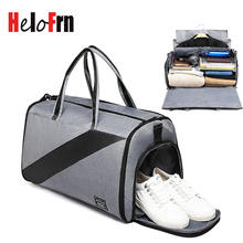 HeloFrn Business Travel Men Large Capacity Handbag Luggage Travel Duffle Bags Suit Male Travel Bags Formal Dress Shoes Pocket