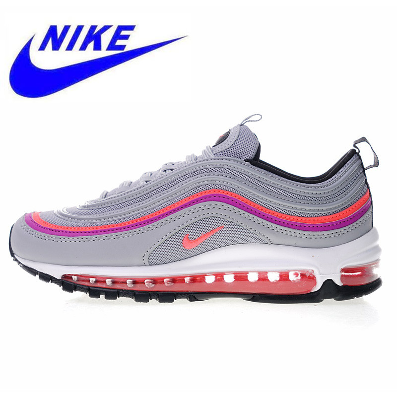 outlet store 07ad6 56a69 Nike Air Max 97 Premium Women's Running Shoes New High Quality Outdoor  Sneakers Shock Absorption Lightweight 921733 009