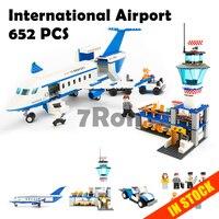 Model building toys hobbies 8912 Compatible With lego Blocks City International Airport Blocks 652pcs Educational DIY Bricks K