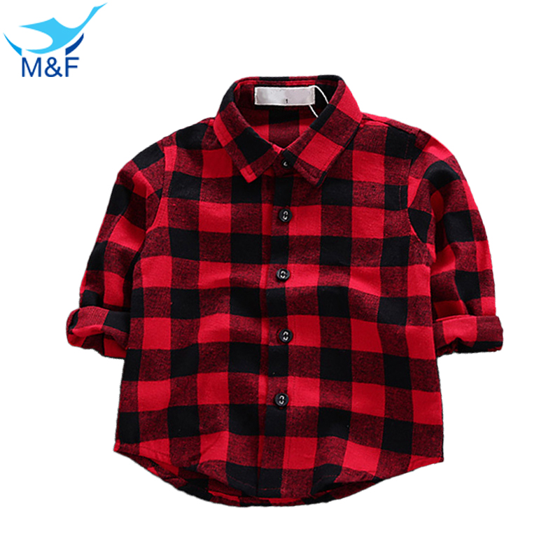 M&F Fashion Baby Girls T-Shirt Classic Red Top Spring Autumn 100% Cotton Infant Tees Clothes Brand New T-shirts For Toddler Boys