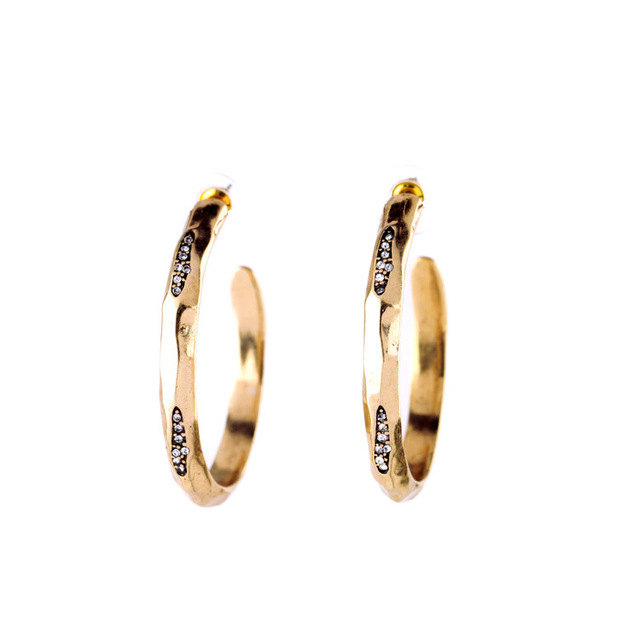 Fashion All Match Filled Gold Plated Women Hoop Earrings Online Ping Indian Factory Whole