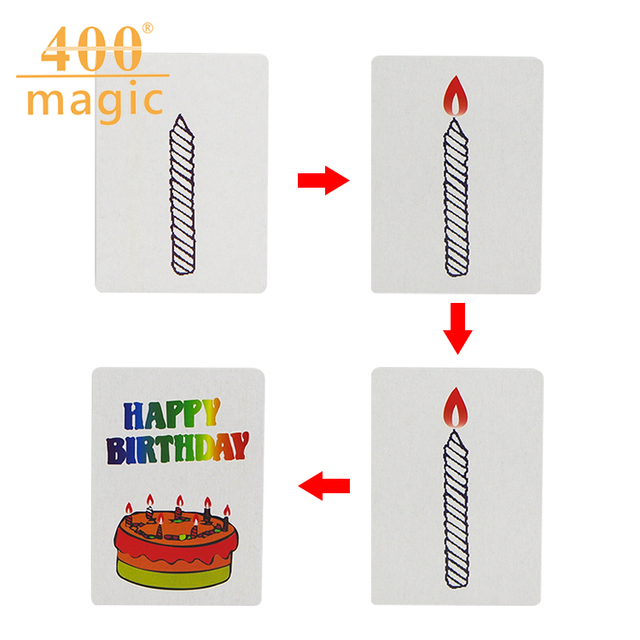 Happy Birthday Card Group Prediction Magic Trick Magic Cardskids
