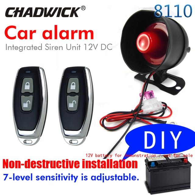 BIUYEE M818110 DIY Car accessories Non-destructive installation Burglar car Alarm System shock warning siren sound alound 12V DC
