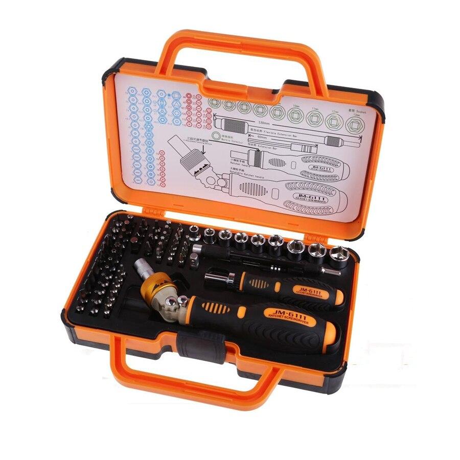 JM-6111 69 en 1 embouts de matériel tournevis à outil ouvert pour téléphone portable, tablette, Pc, Macbook, ensemble d'outils de réparation électronique