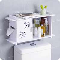 Free punch bathroom wall shelf toilet toilet storage rack bathroom waterproof roll paper wash rack LO523259