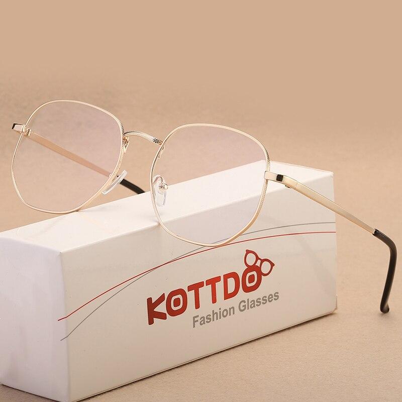 KOTTDO Nova Moda Masculina de Metal Óculos Quadros para As Mulheres Miopia  Óptico Transparente bolsa de a76b39ef03