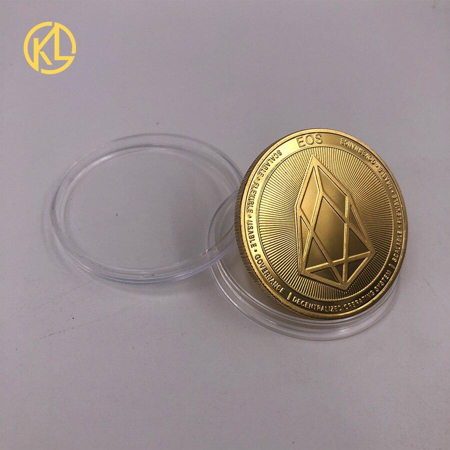 CO012 позолоченный эфириум классическая монета памятная монета художественная коллекция подарок физическая имитация из металла вечерние украшения для дома - Цвет: CO-013-1