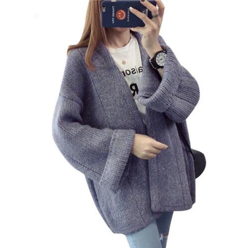 Women sweater cardigans Clothes 2017 new Open Stitch sweaters Fashion Autumn Winter Long Sleeve Loose Knitted Female Coat QH0408 ...