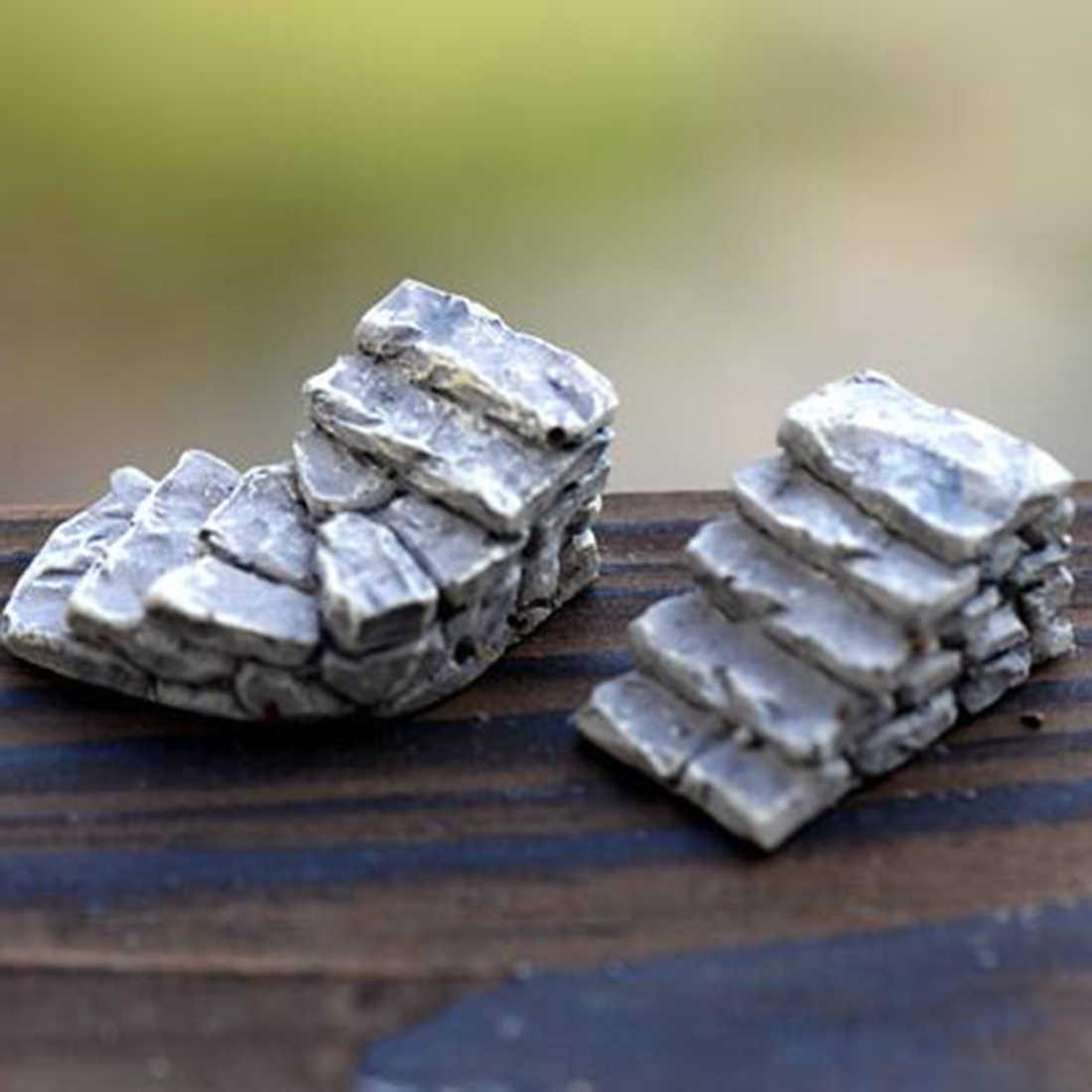 Escadas de Pedra Venda quente Figuras Estatueta Em Miniatura Mini Micro Paisagem Tanque Animal Estátua Do Jardim de Fadas Ofício da Resina