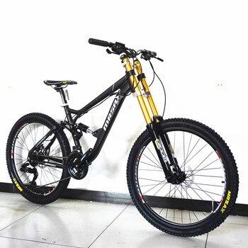 Nova Marca Downhill Mountain Bike Frame Da Liga de Alumínio Freio A Disco de Óleo Cauda Suave Bicicleta Outdoor Sports MTB Bicicleta