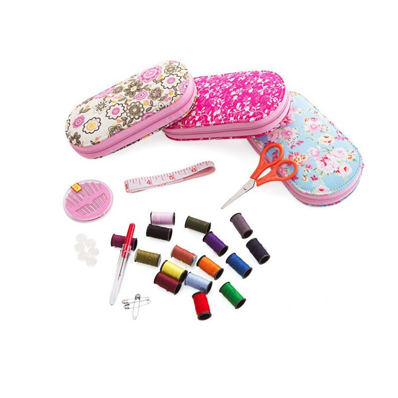 Portable mini travel sewing kits box with color needle threads pin - Arts, Crafts and Sewing - Photo 3