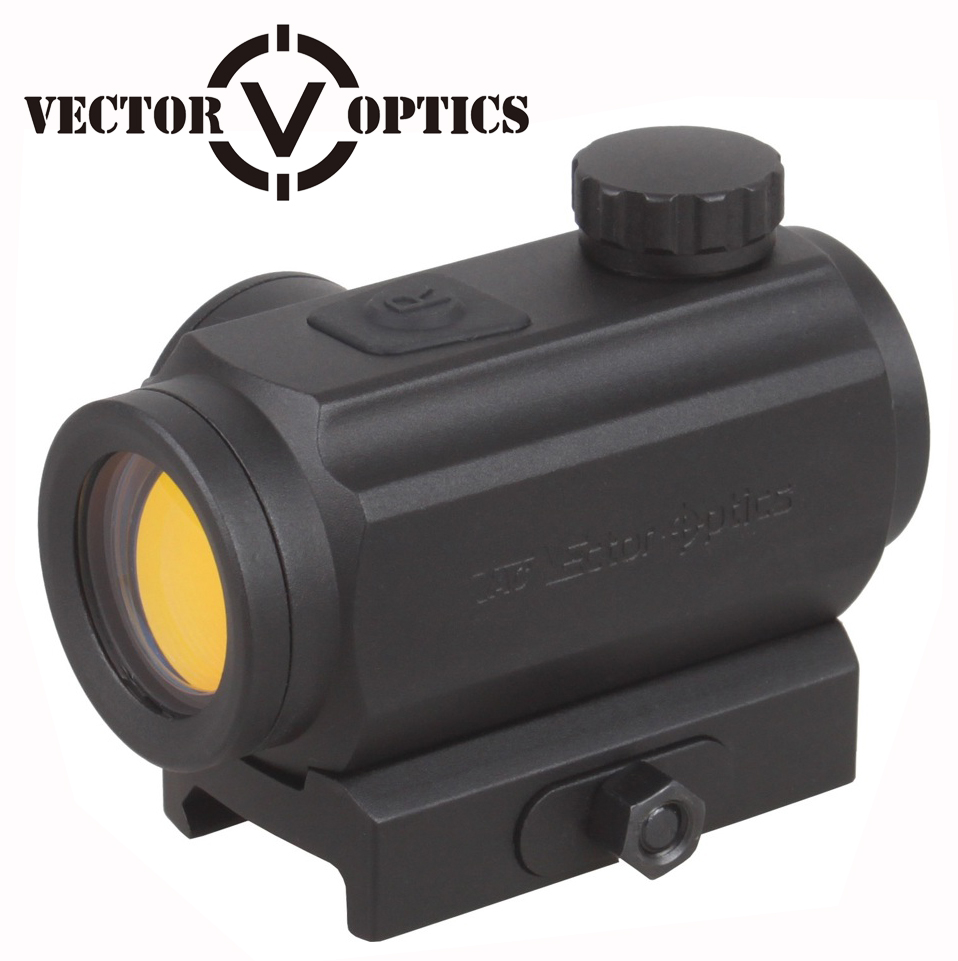 Vector Optics Torrent 1x20 Red Dot Sight Scope med 20mm Weaver QD Mount Base for Night Hunting