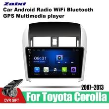 ZaiXi car gps multimedia player For Toyota Corolla E140 E150 2007~2013 car Android navigation raido video audio player stereo for 11 13 e140 toyota corolla s 10