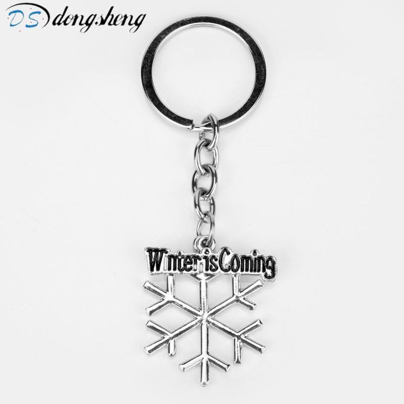 Dongsheng 2017 nueva moda copo de nieve llavero fibra Llaves Llaveros llavero para mujer joyería regalo copo de nieve Llavero-50