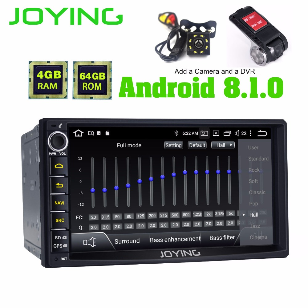 Joying Double 2Din Universal Head Unit Android 8.1 Car Stereo autoradio GPS Multimedia Music Player For Toyota Nissan Honda DSP
