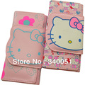 Wholesale Hello Kitty Pattern money clip wallet Pu leather Children & women long Purse+ Free shipping