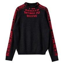 Letter Knitted Pullover Korean