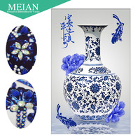 Meian Special Shaped Diamond Embroidery China Porcelain 5D Diamond Painting Cross Stitch 3D Diamond Mosaic Decoration