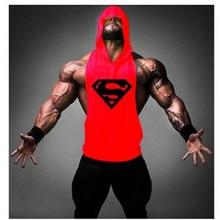 2018 Brand Bodybuilding stringer tank top Superman Gyms hoodie t shirt men Fitness Vest Singlet sportswear workout tank tops