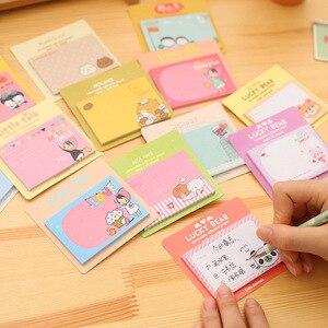 Image 4 - 50 PCs קוריאני מכתבים חמוד מדבקות קריקטורה Creative הערות דרום קוריאני תזכיר גיליונות Kawaii מכתבים