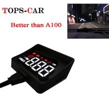 Новейшая модель; A100S Автомобиль HUD на лобовое стекло Дисплей OBD2 II EUOBD превышение скорости Предупреждение Системы проектор для ветрового стекла автоматический электронный Напряжение сигнализации
