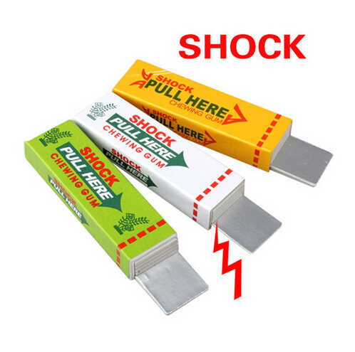 Chewing Gum Pull Head Practical Jokes Fantastic for Fun Safety Trick Joke Toy Fun Electric Toys