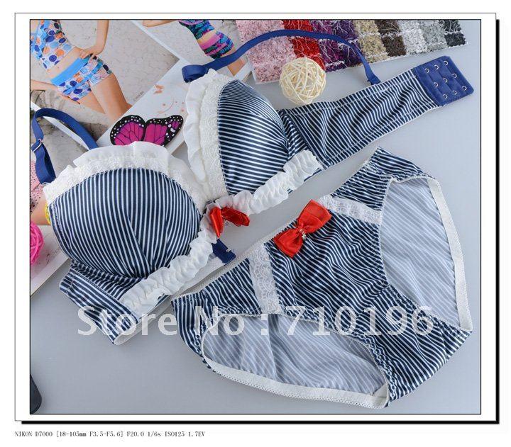 a4b3a8c40 small wholesales Japanese Korea women bra panty set underwear lingerie  intimates amzx8980-in Bras from Underwear   Sleepwears on Aliexpress.com