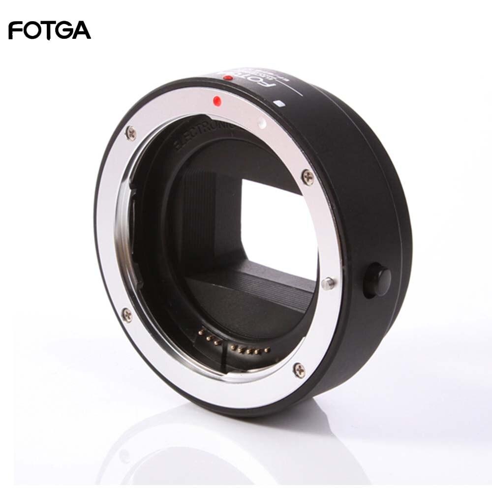 Lente de enfoque automático AF electrónico FOTGA anillo adaptador para Canon EOS EF EF-S a Sony E NEX A7 A7R A7S A9 A6300 A6500 lente marco completo