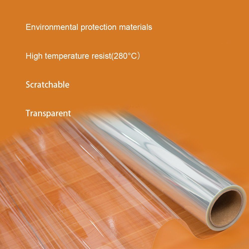 SUNICE 4mil 0 1mm High Glossy Transparent Furniture Film Scratch prevention Protective Film Self adhesive Waterproof