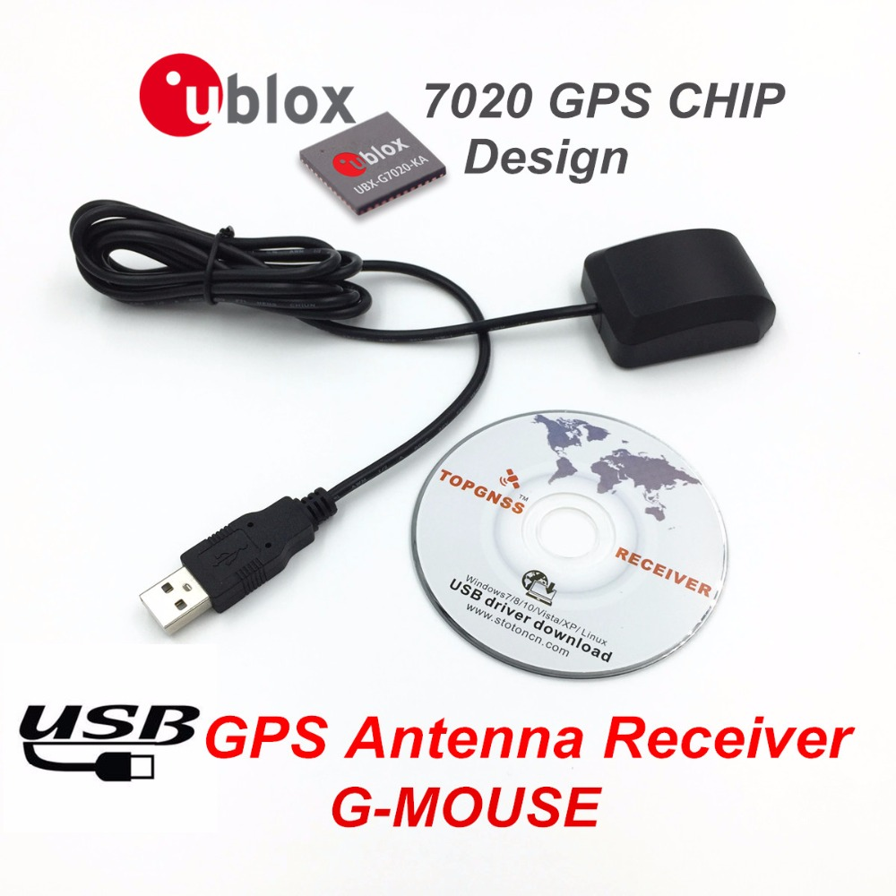 USB GPS Receiver Free Shipping Ublox 7020 gps chip GPS Antenna G Mousereplace BU 353S4