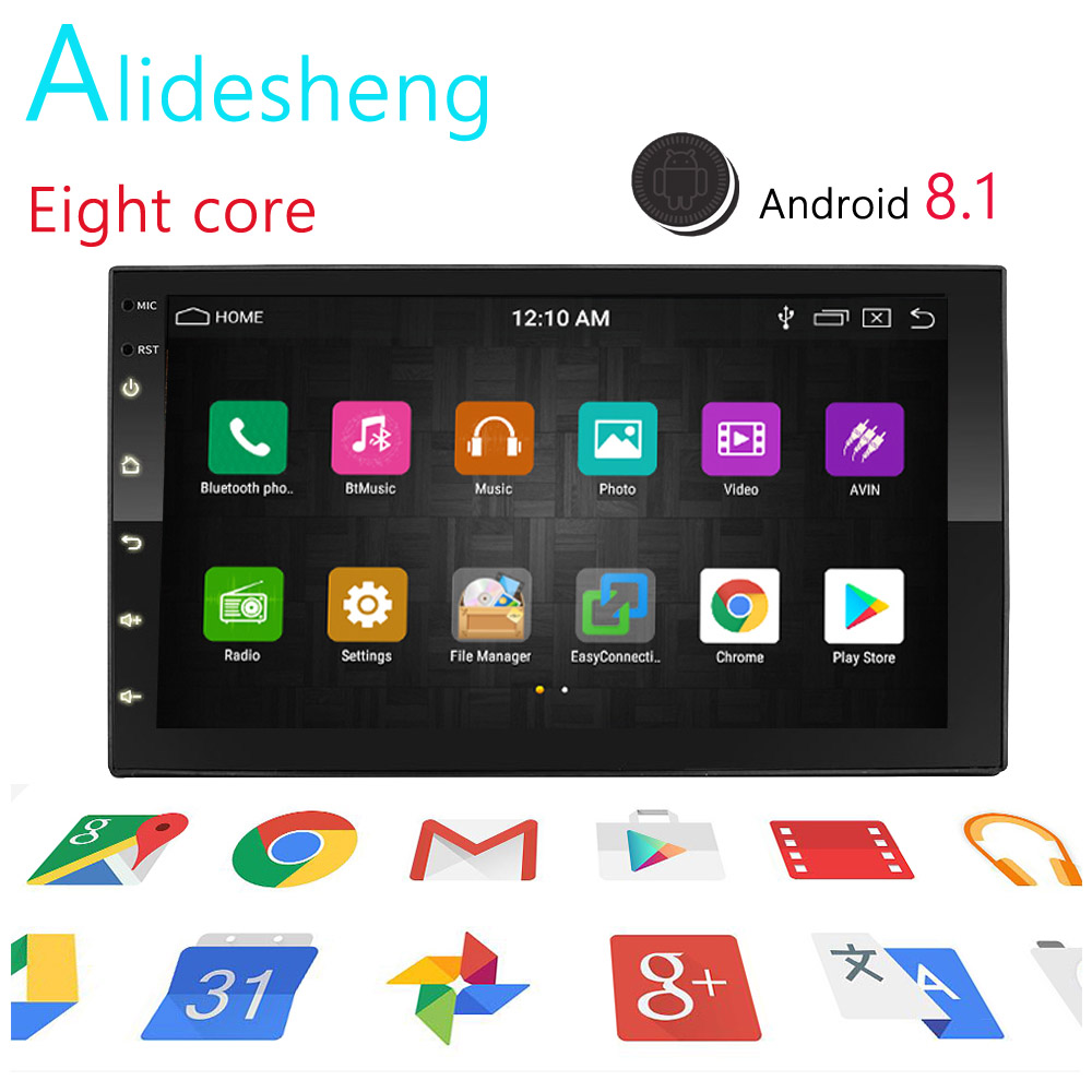 Real Android 8.1 2din Car Radio Universal GPS Eight core wifi Bluetooth Touchscreen Car Audio Stereo FM USB Car Multimedia MP5Real Android 8.1 2din Car Radio Universal GPS Eight core wifi Bluetooth Touchscreen Car Audio Stereo FM USB Car Multimedia MP5
