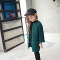 2016 New Fashion Girls Green Pineapple sleeve Single breasted Knit Cardigan Kids Sweater girl top cb