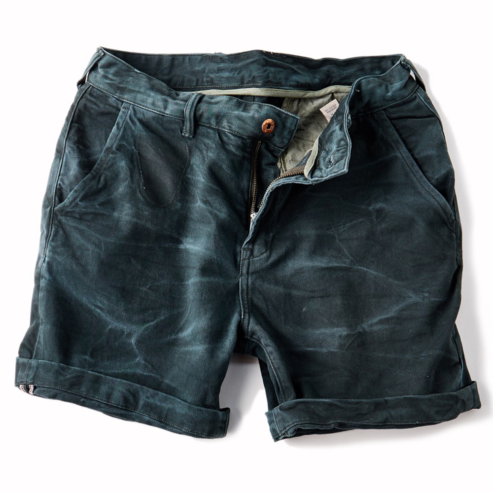 2017 NEW Stonewash Process Vintage Short jeans Retro Casual Mid waist Crimping Mens deni ...