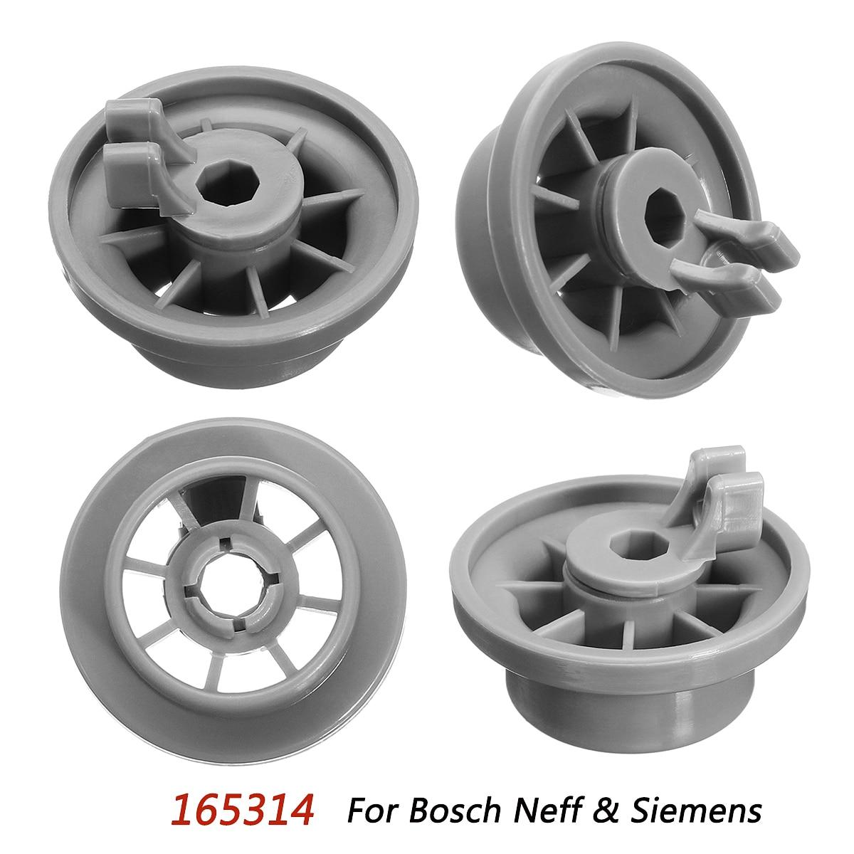 4 X For Bosch Siemens Neff Dishwasher Rack Basket Wheel Spare Part Accessories