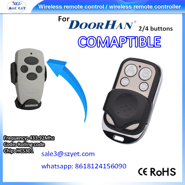 Russian Famous Brand Doorhan remote control garage door remote control replacement 100 compatible with Doorhan