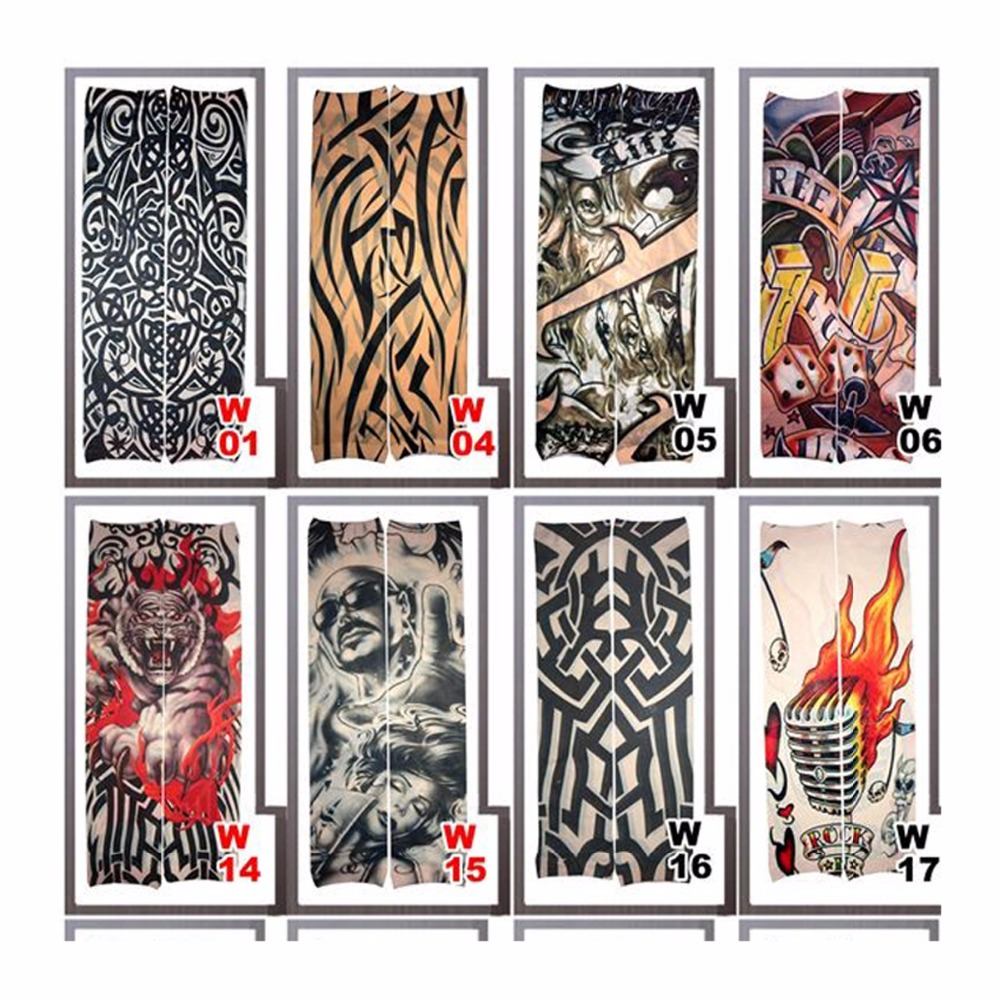 Arm Covers Nylon Fake Tattoo Sleeve Arm Stocking Tatoo Warmer New Arrival Vogue For Men Women 5PC/lot