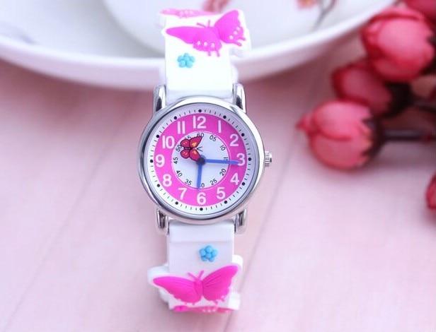 Wills Children Watch Waterproof Students Luminous Cute Butterfly Girl Belt Quartz Watch Watches Women Fashion Watch