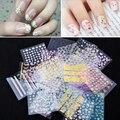 Nail 10 o 50 hojas belleza floral patrones de diseño de uñas pegatinas Mixed Tips Manicura 3D Decoraciones Del Arte Del Clavo Tatuajes de Transferencia GYH