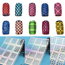цена на 2016 New Nail Art Hollow Template Sticker Stamp Stencil Guide Manicure Tips Stamping Tool