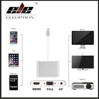 For Lightning To HDMI VGA AV Digital Adapter For IPhone 8 7 7 Plus 6 For