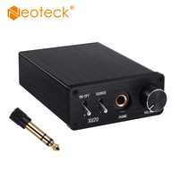 Neoteck DAC Digital to Analog Audio Converter Adapter with Headphone Amplifier Coaxial SPDIF Toslink to Analog Stereo L/R 6.5mm