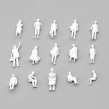 New 1:87 Unpainted Scale Model Figure White Color Train Passenger Standing