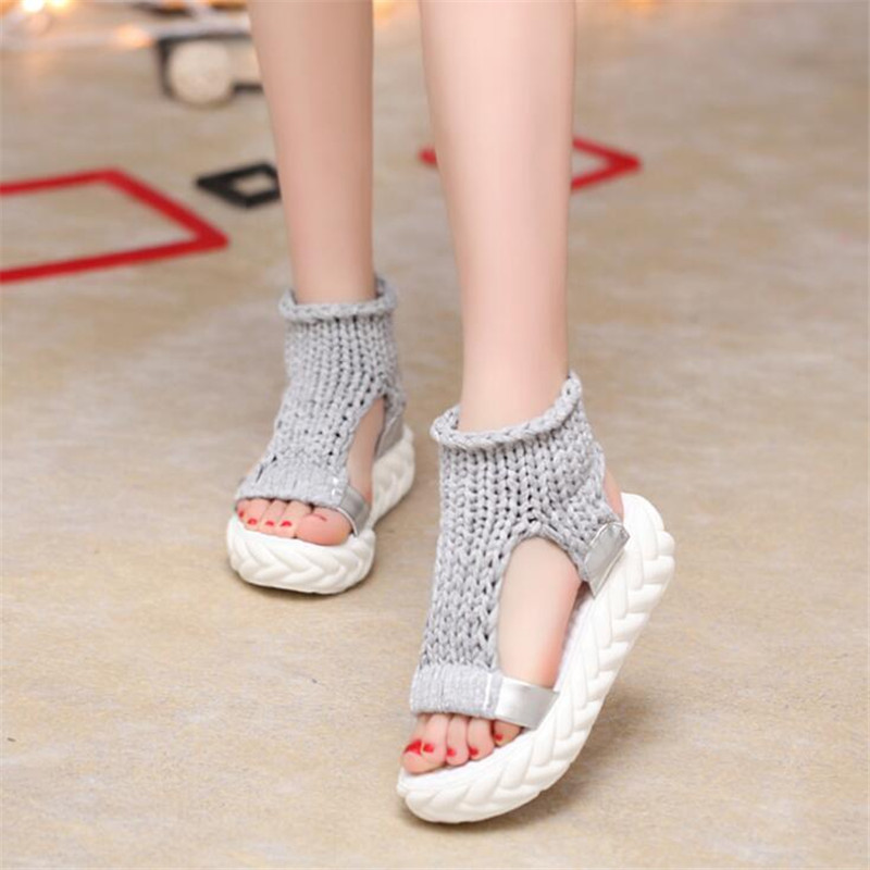 Comfortable Sandals Ladies Wedge Female Shoes Summer Woman Slip-On