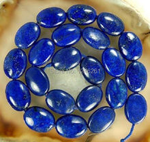 Trendy 13x18mm Egyptian Lapis Lazuli Oval Loose Beads Natural Stone Fashion Jewelry Accessory Parts AA++ 15inch Wholesale Price