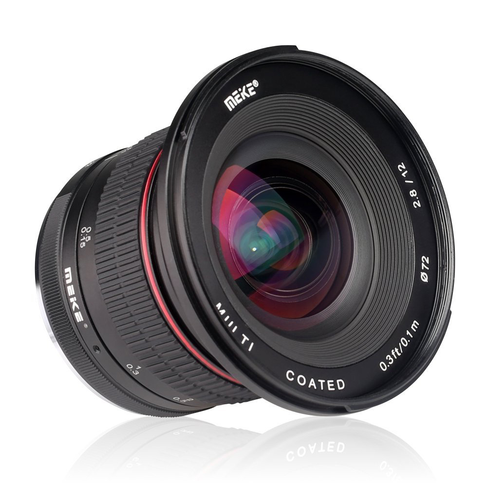 Meike 12mm f/2.8 Wide Angle Manual Focus Lens for Canon Mirrorless Camera with APS-C