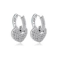 القلب زركون كليب أقراط النحاس المرأة العصرية أزياء الحب مزاجه tiff تصميم أسلوب لطيف أقراط مجوهرات هدايا
