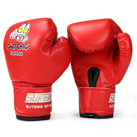 Cheap Fitness PU Leather Child Kid Gifts Boxing Gloves Breathable Fighting Training Punching Bag Funny Cartoon