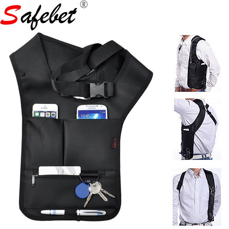 SAFEBET Black Police Spy 007 Underarm Bag Passport Key Phone Hidden Storage Bag Second Generation Creative Upgraded Version