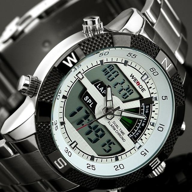 2017 Top Luxury Brand WEIDE Men Fashion Sports Watches Men's Quartz LED Clock Man Army Military Wrist Watch Relogio Masculino